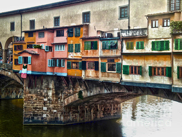 Florence Italy - Ponte Vecchio Print by Gregory Dyer