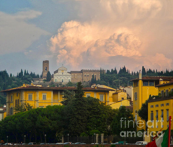 Florence Italy - San Miniato Al Monte Print by Gregory Dyer