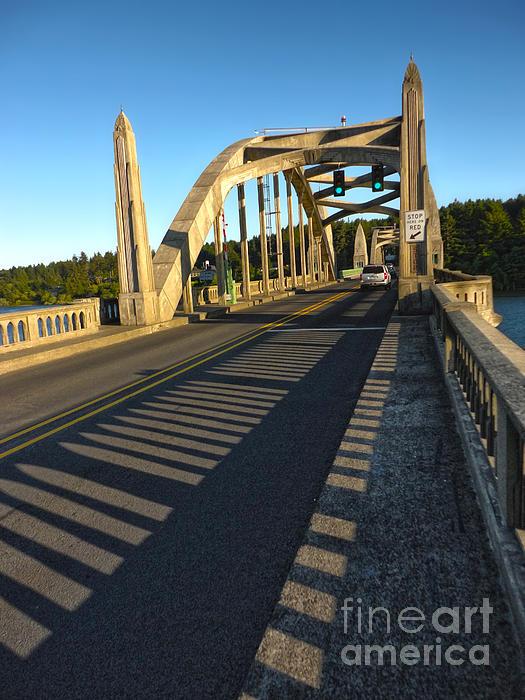 Florence Oregon - Art Deco Bridge Print by Gregory Dyer