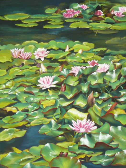 Flourishing Above The Surface Painting  - Flourishing Above The Surface Fine Art Print