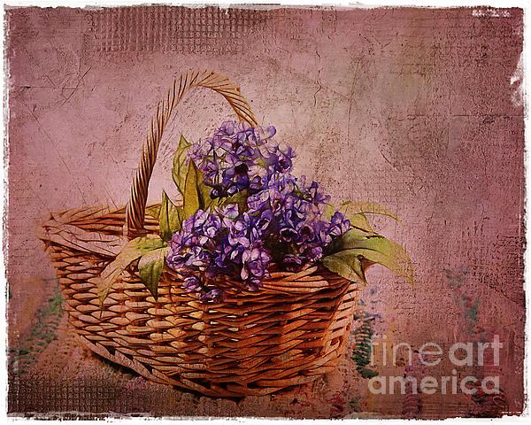 Flower Basket Print by Judi Bagwell