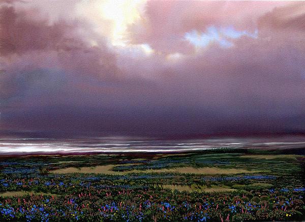 Flower Beach Print by Robert Foster