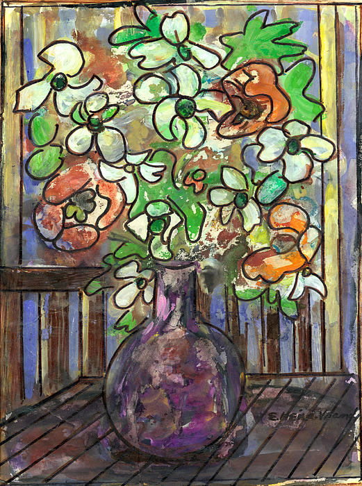 Flower Burst Print by Ethel Vrana