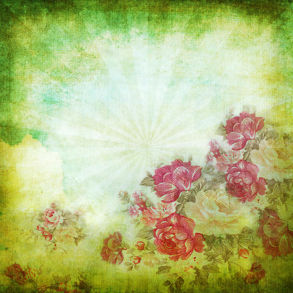 Flower Pattern On Paper Print by Setsiri Silapasuwanchai