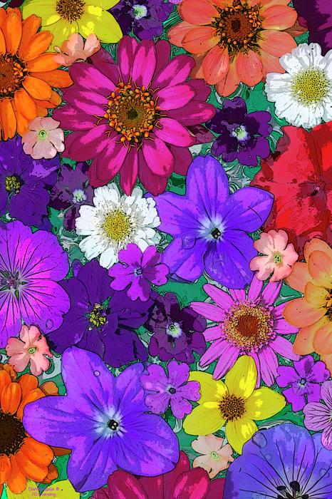 Flower Pond Vertical Print by JQ Licensing