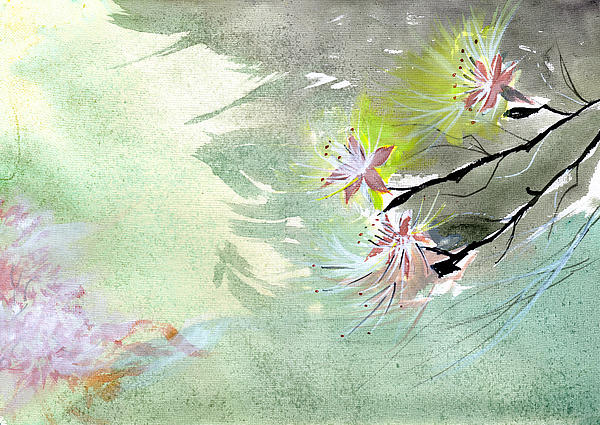 Flowers 3 Print by Anil Nene