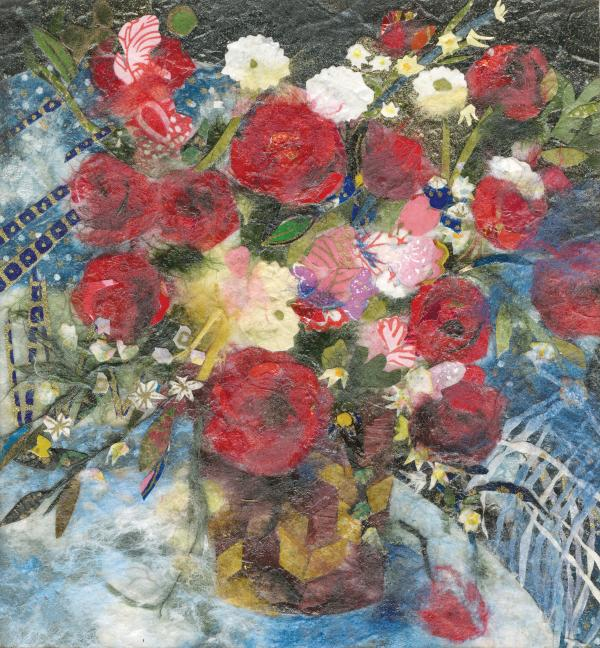Flowers In A Basket Painting  - Flowers In A Basket Fine Art Print