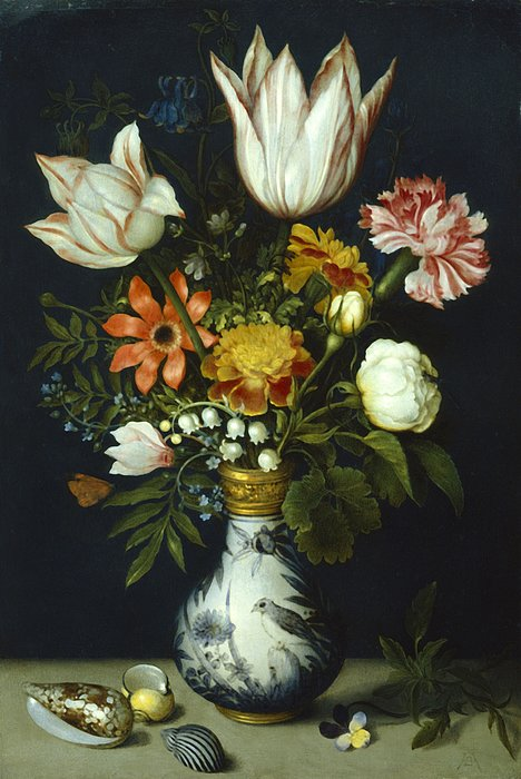 Flowers In A Vase Painting Print by Photos.com