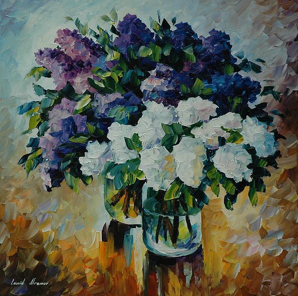 Leonid Afremov - Flowers On Water