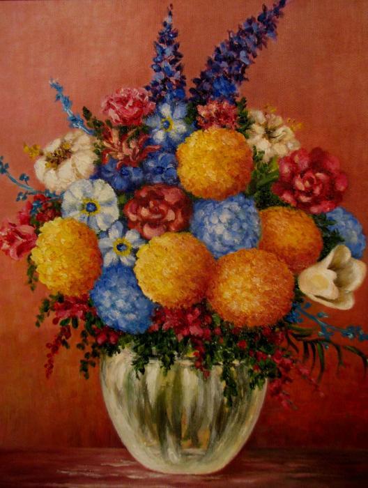 Glass Flower Vase Flower Vase Paintings