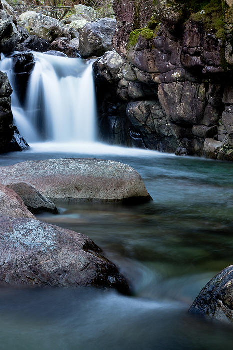 Flowing Falls Print by Justin Albrecht