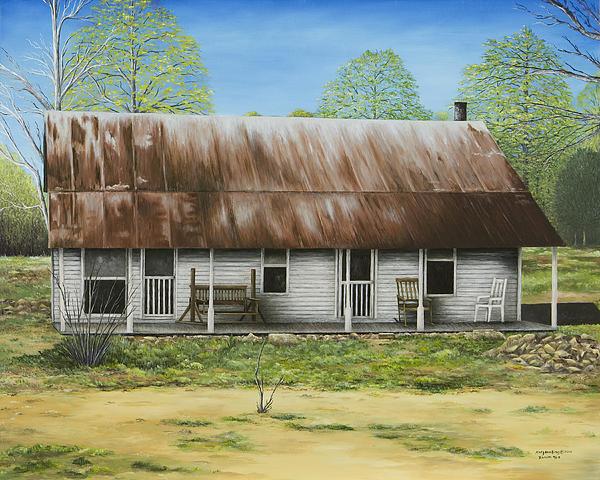 Floyd Arkansas' Oldest House Print by Mary Ann King