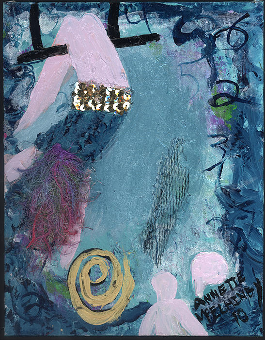 Flying Without A Net Print by Annette McElhiney
