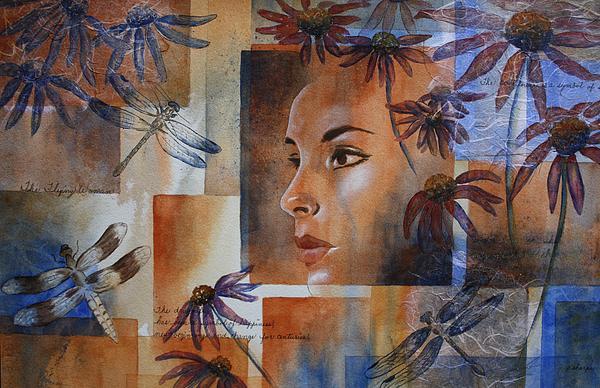 Flying Woman Print by Patsy Sharpe
