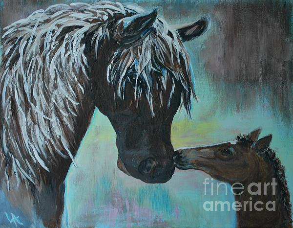 Foal Kiss Painting  - Foal Kiss Fine Art Print