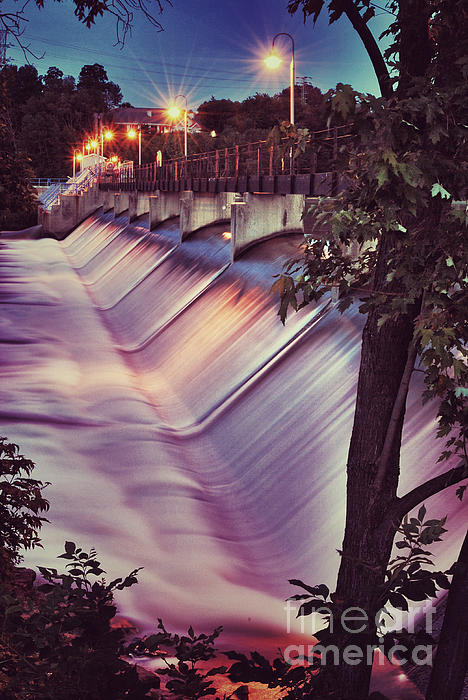 Foaming Fox River Print by Shutter Happens Photography