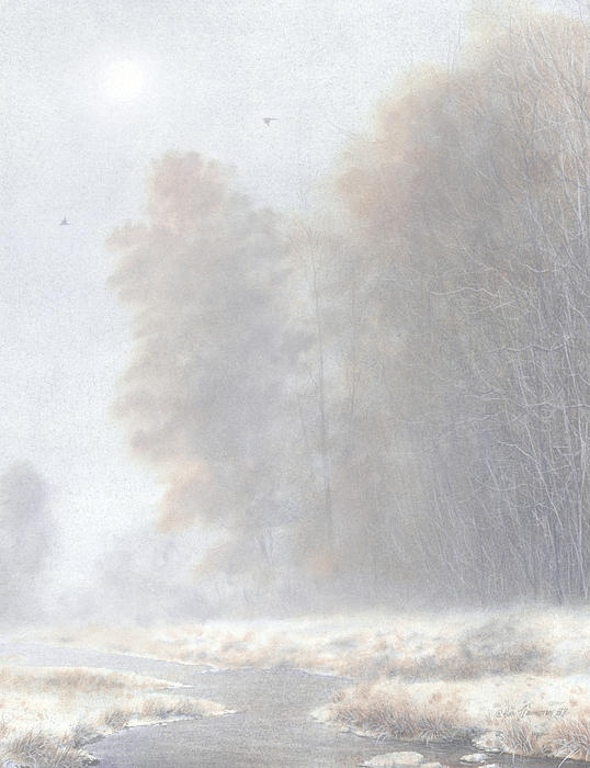 Fog And Frost Print by Ken Johnston