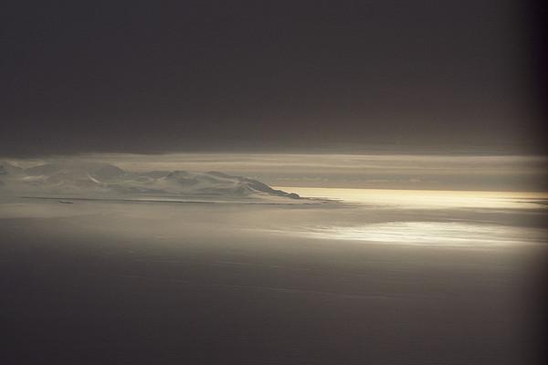 Fog And Sunlight Over Polar Print by Gordon Wiltsie