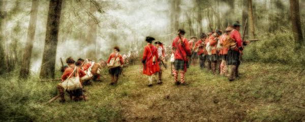 Fog Of War Battle Scene Print by Randy Steele