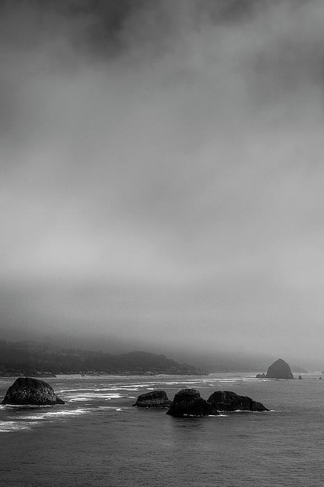 Foggy Beach Print by David Patterson