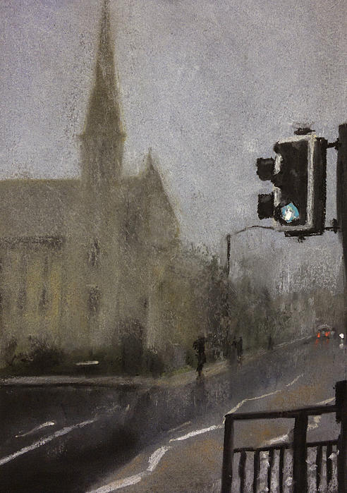 Foggy Herne Bay 1 Print by Paul Mitchell
