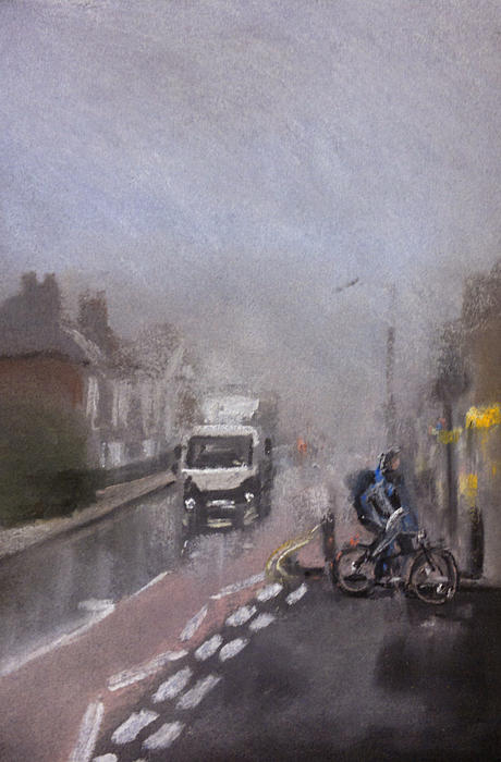 Foggy Herne Bay 2 Print by Paul Mitchell