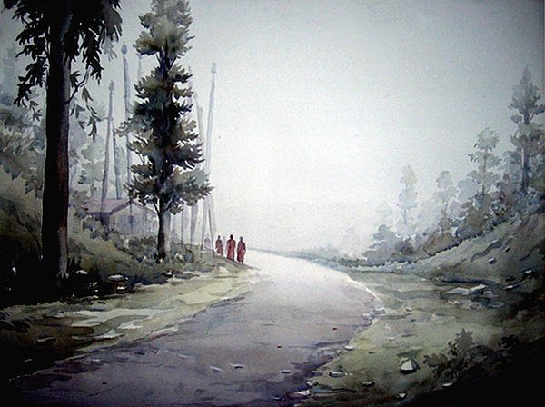 Samiran Sarkar - Foggy Mountain path