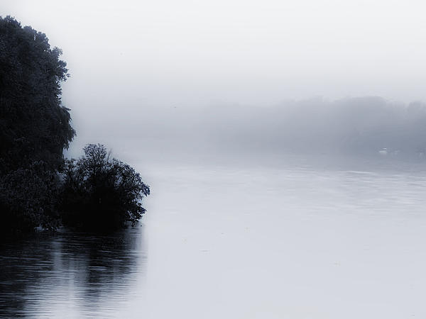 Foggy River Print by Bill Cannon