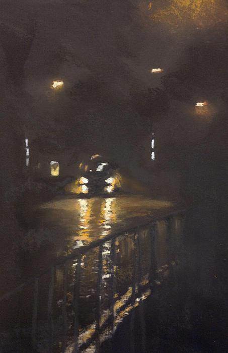 Foggy Street 4 Print by Paul Mitchell