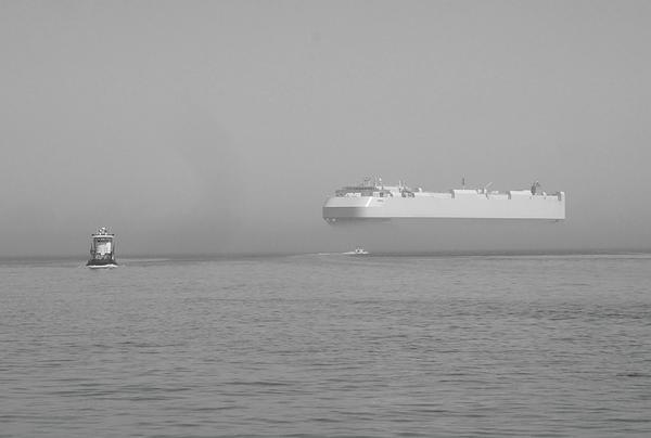 Fogs Floating Barge Print by WaLdEmAr BoRrErO