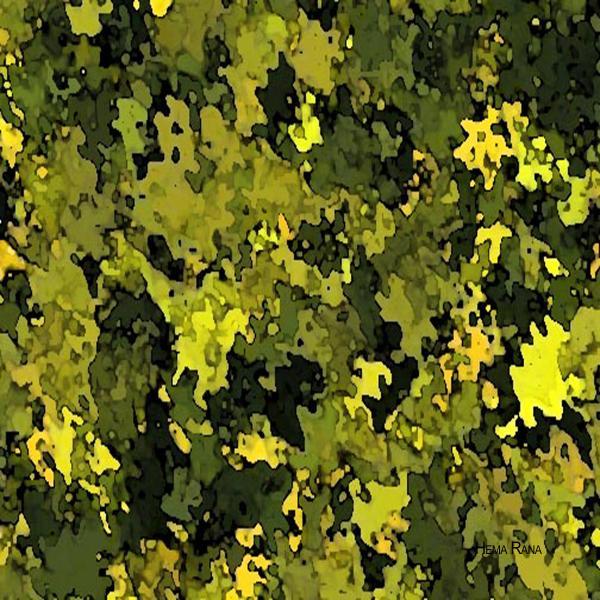 Foliage Print by Hema Rana