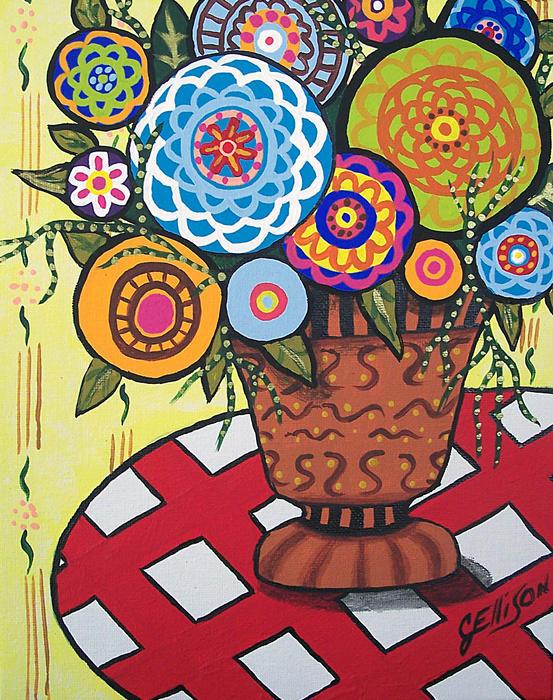 Folk Art Flower American Art Flower Paintings