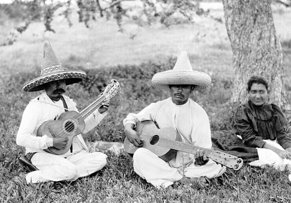 Folk Music. Musical Picnic, Photo Print by Everett