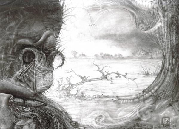 Fomorii Swamp Print by Otto Rapp
