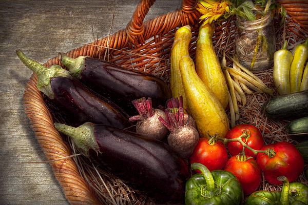 Food - Vegetables - From Mother's Garden Print by Mike Savad