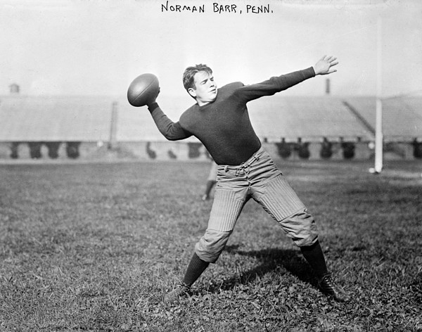 Football, Norman Barr, University Print by Everett