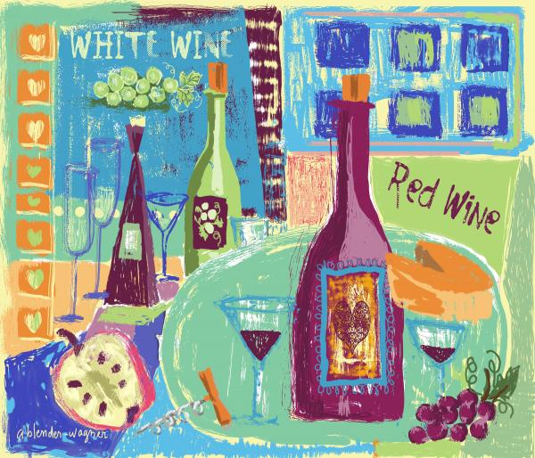 For The Love Of Wine Print by Arline Wagner