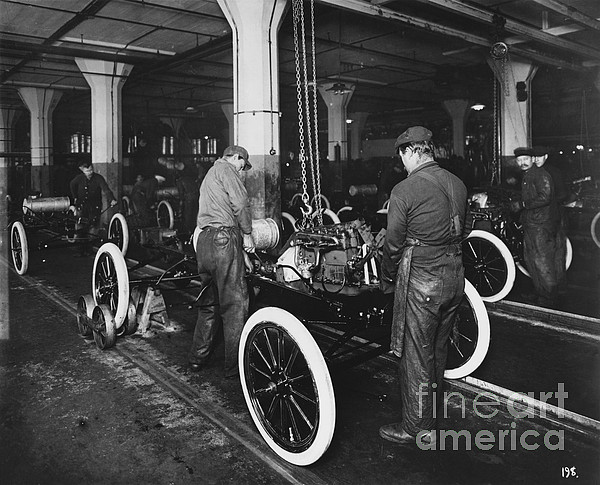 Ford Assembly Line Print by Omikron