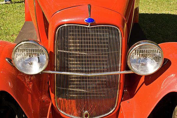 Ford Headlights Print by Douglas Barnett