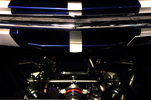 Ford Mustang Front View Print by Radoslav Nedelchev