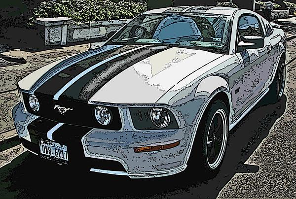 Ford Mustang Gt No. 2 Print by Samuel Sheats