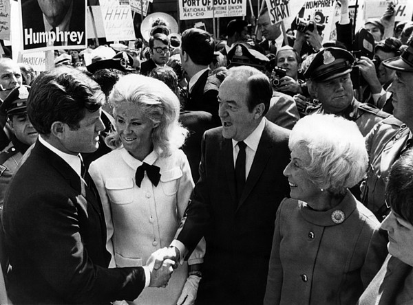 Foreground Senator Edward M. Kennedy Print by Everett