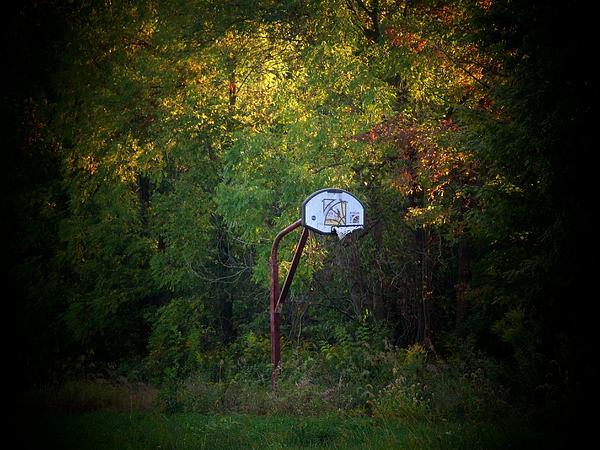 Forgotten Hoop Print by Michael L Kimble