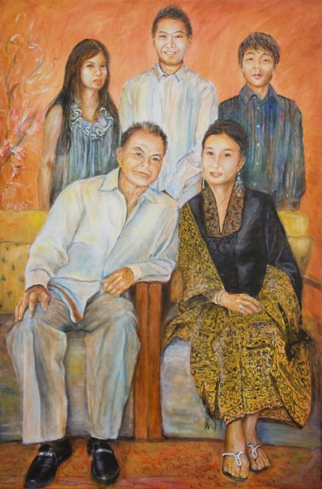 Formal Family Portrait Print by Nik HelbigOld Family Painted Portraits