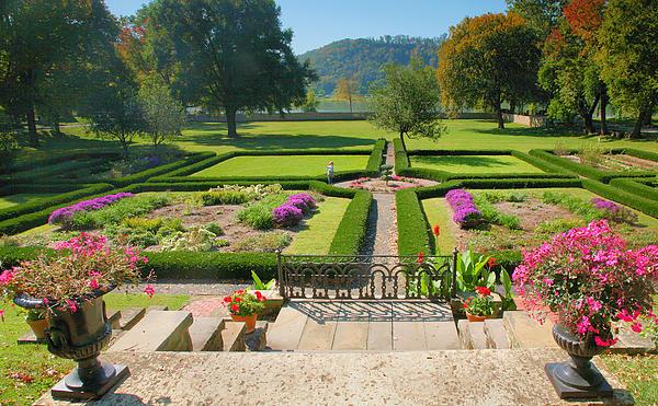 Formal Garden I Print by Steven Ainsworth