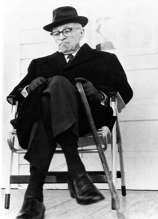Former President Harry S. Truman Print by Everett