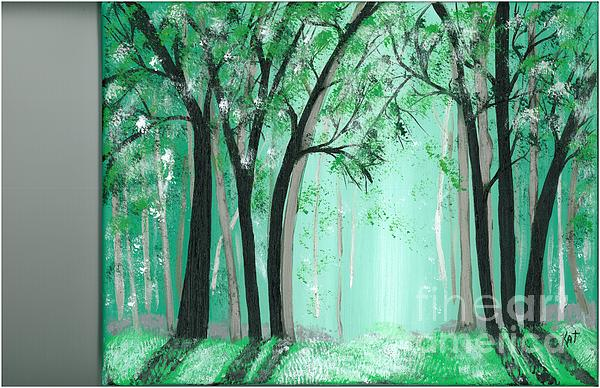 Forrest Print by Kat Beights