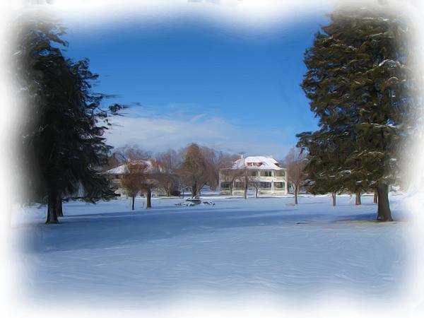 Fort Bayard In Winter Print by FeVa  Fotos