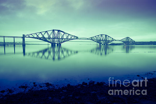 Forth Bridge Queensferry Edinburgh Print by Donald Davis