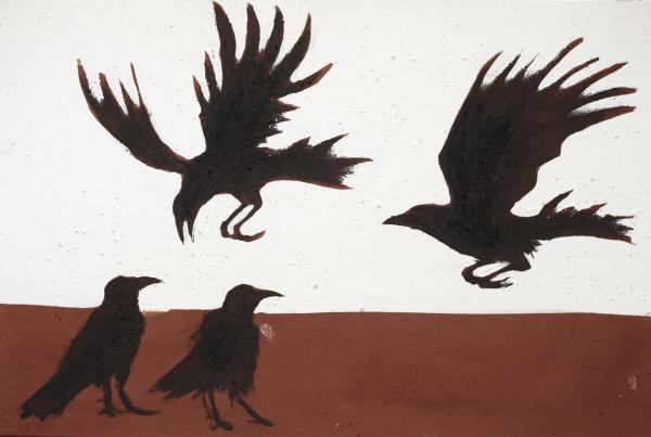 Four Crows Painting by Sophy White - Four Crows Fine Art Prints ...